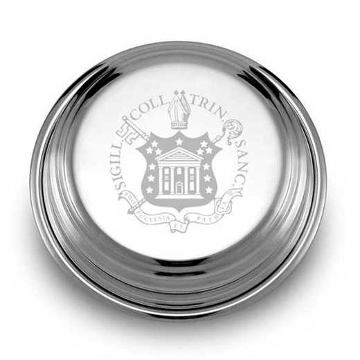 615789623724: Trinity College Pewter Paperweight