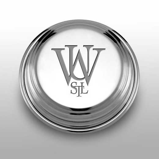 615789321132: WUSTL Pewter Paperweight