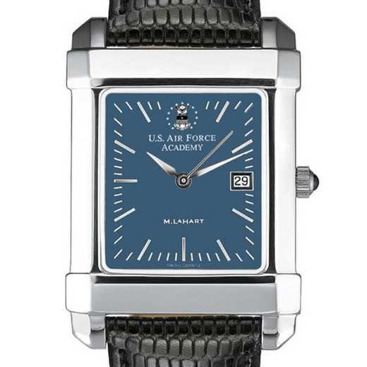 615789543589: USAFA Men's Blue Quad Watch W/ Leather Strap