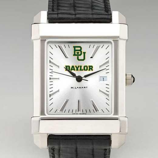 615789989523: Baylor Men's Collegiate Watch W/ Leather Strap