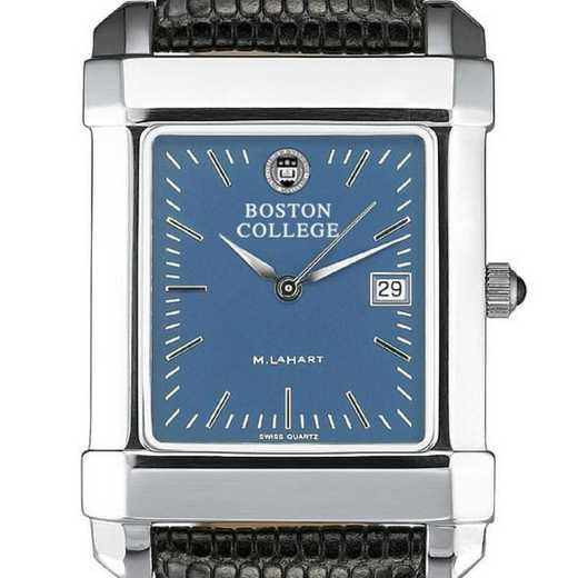 615789252764: Boston College Men's Blue Quad Watch W/ Leather Strap