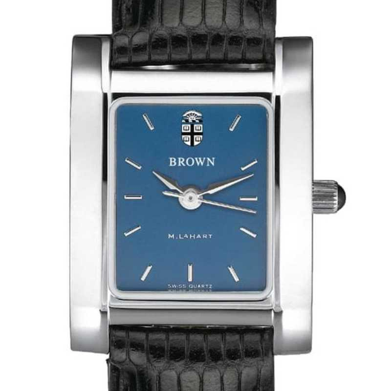 615789365556: Brown Women's Blue Quad Watch W/ Leather Strap