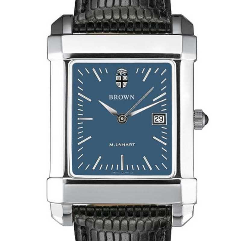 615789433859: Brown Men's Blue Quad Watch W/ Leather Strap
