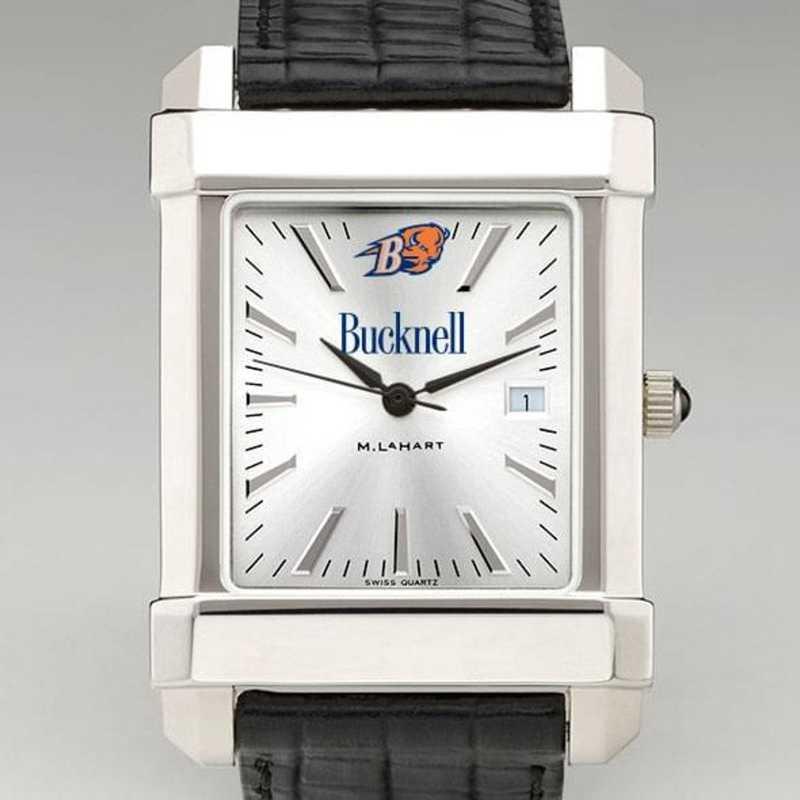 615789561187: Bucknell Men's Collegiate Watch W/ Leather Strap