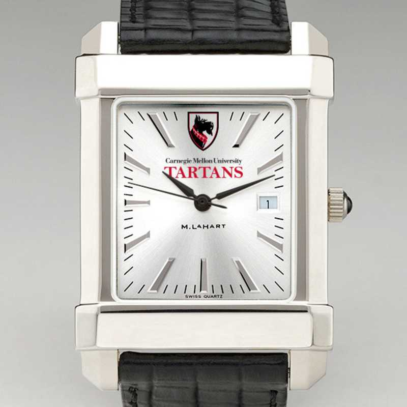 615789631729: Carnegie Mellon Univ Men's Collegiate Watch W/Leather Strap