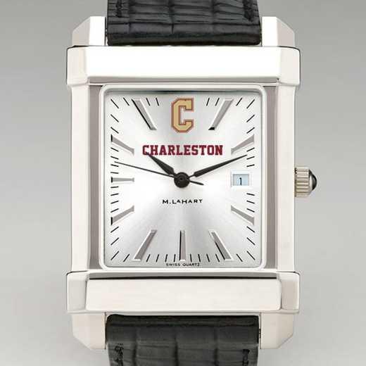 615789617907: College of Charleston Men's Collegiate Watch W/Lther Strap