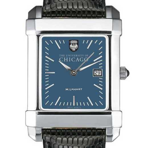 615789524601: Chicago Men's Blue Quad Watch W/ Leather Strap