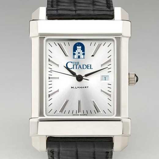 615789376880: Citadel Men's Collegiate Watch W/ Leather Strap