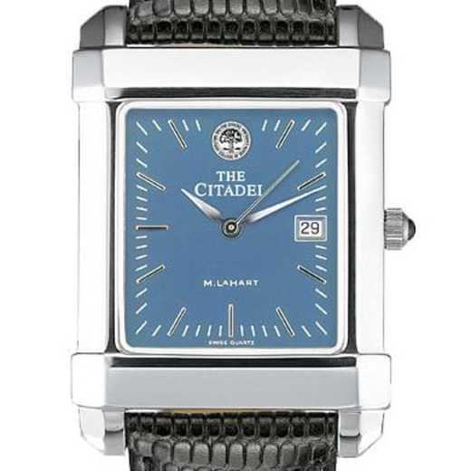 615789665243: Citadel Men's Blue Quad Watch W/ Leather Strap
