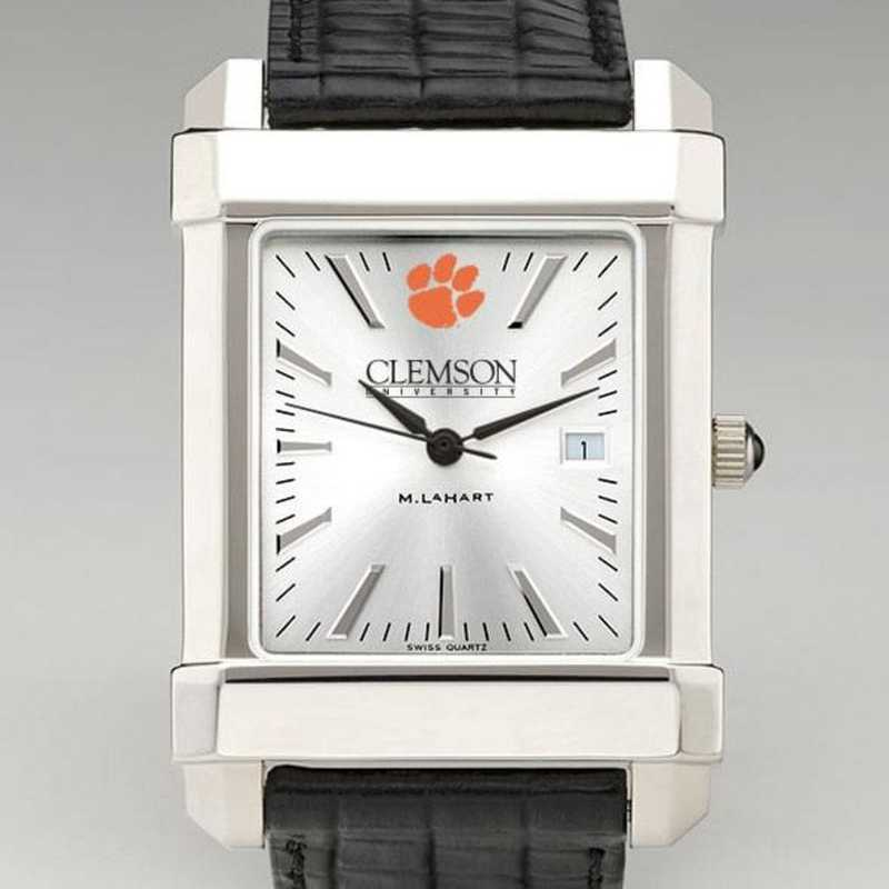615789153580: Clemson Men's Collegiate Watch W/ Leather Strap