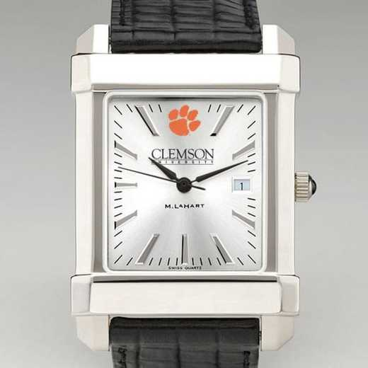 615789153580: Clemson Men's Collegiate Watch W/ Leather Strap