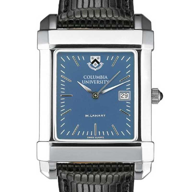 615789410591: Columbia Univ Men's Blue Quad Watch W/ Leather Strap