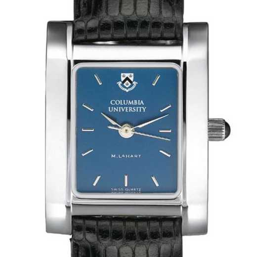 615789410638: Columbia Univ Women's Blue Quad Watch W/ Leather Strap