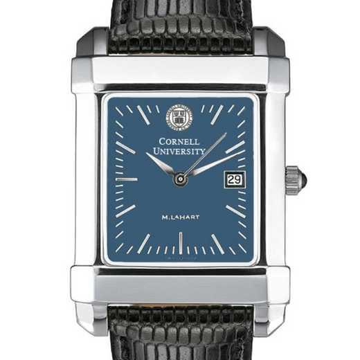 615789411659: Cornell Men's Blue Quad Watch W/ Leather Strap