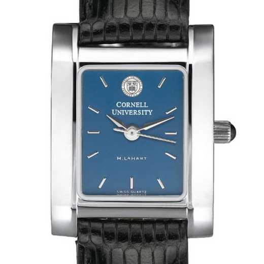 615789411697: Cornell Women's Blue Quad Watch W/ Leather Strap