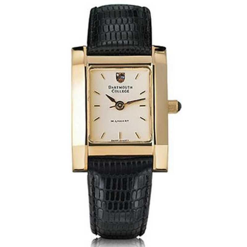 615789023012: Dartmouth Women's Gold Quad Watch W/ Leather Strap