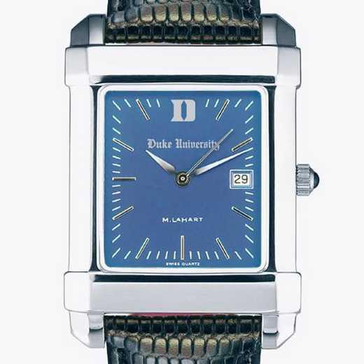 615789247609: Duke Men's Blue Quad Watch W/ Leather Strap