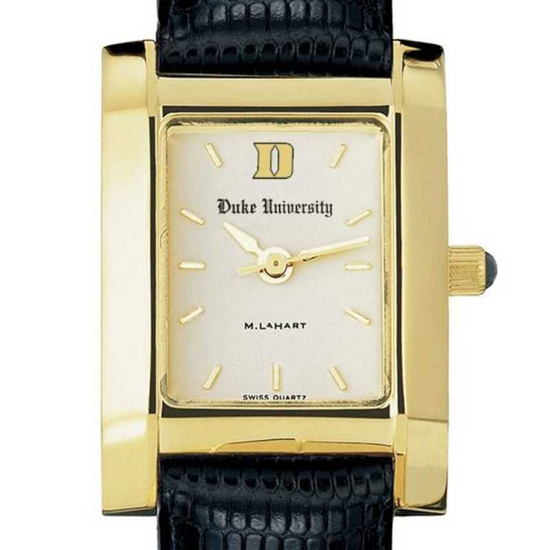 615789675389: Duke Women's Gold Quad Watch W/ Leather Strap