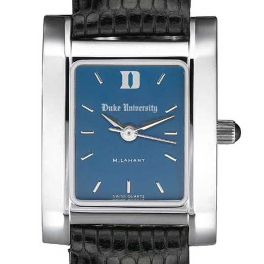 615789753872: Duke Women's Blue Quad Watch W/ Leather Strap