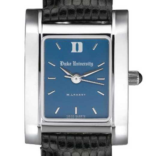 615789753872: Duke Women's Blue Quad Watch W/ Leather Strap