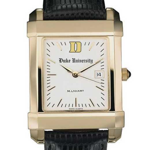 615789860396: Duke Men's Gold Quad Watch W/ Leather Strap