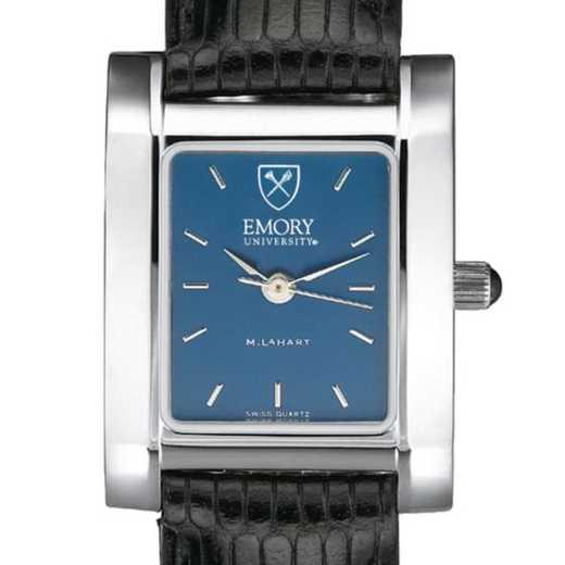 615789030904: Emory Women's Blue Quad Watch W/ Leather Strap