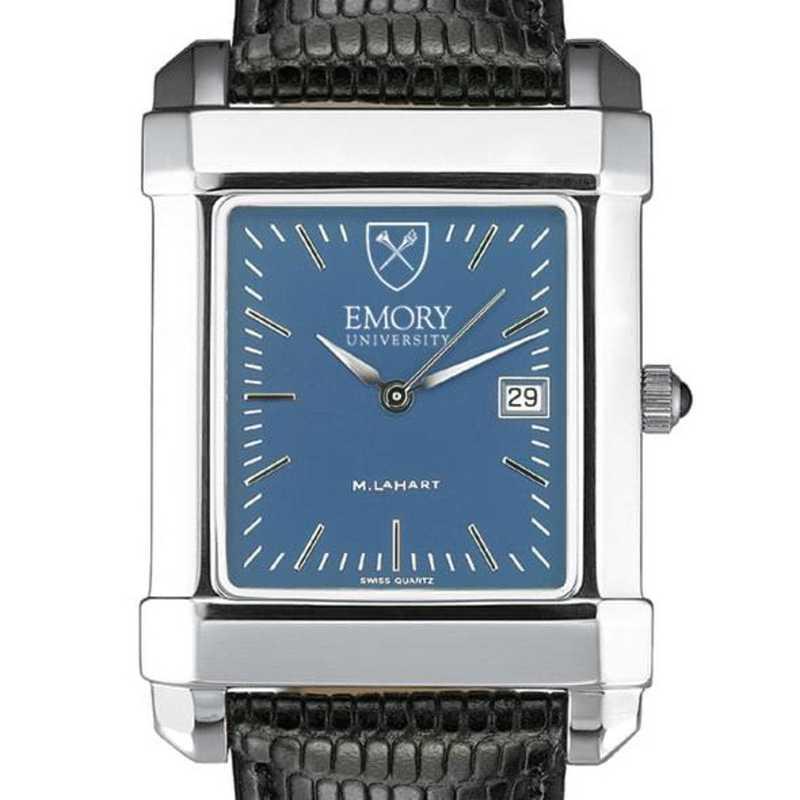 615789162162: Emory Men's Blue Quad Watch W/ Leather Strap