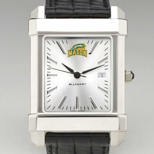 615789640035: George Mason Univ Men's Collegiate Watch W/ Leather Strap