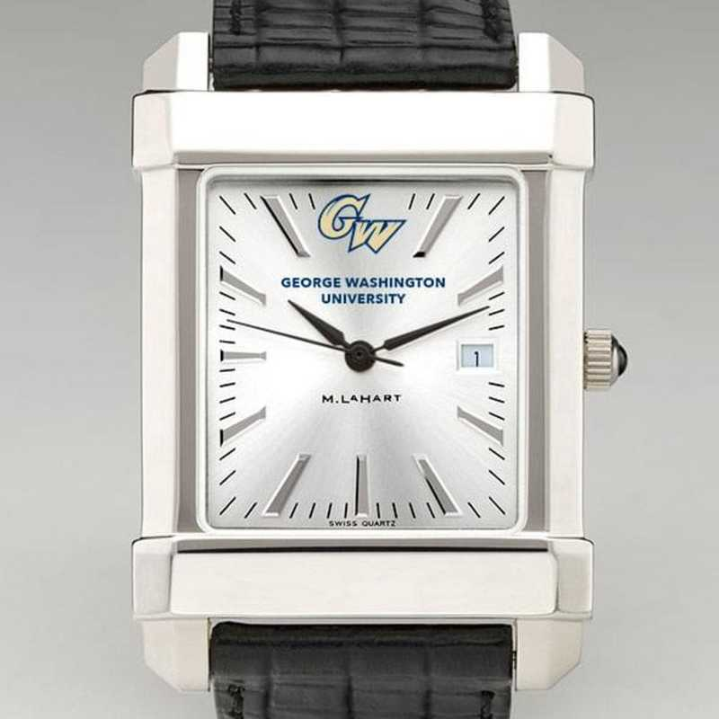 615789509134: George Washington Men's Collegiate Watch W/ Leather Strap