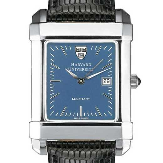 615789410119: Harvard Men's Blue Quad Watch W/ Leather Strap