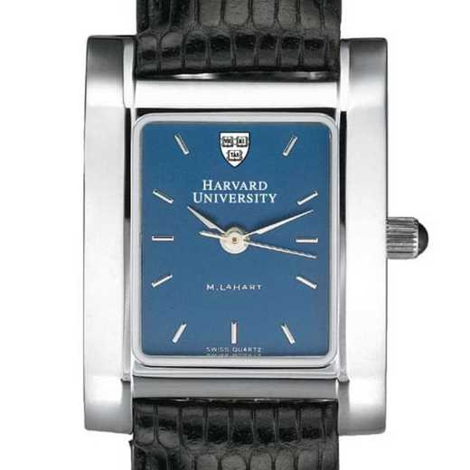 615789410157: Harvard Women's Blue Quad Watch W/ Leather Strap