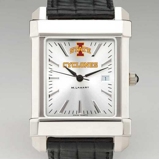 615789844365: Iowa State Univ Men's Collegiate Watch W/ Leather Strap