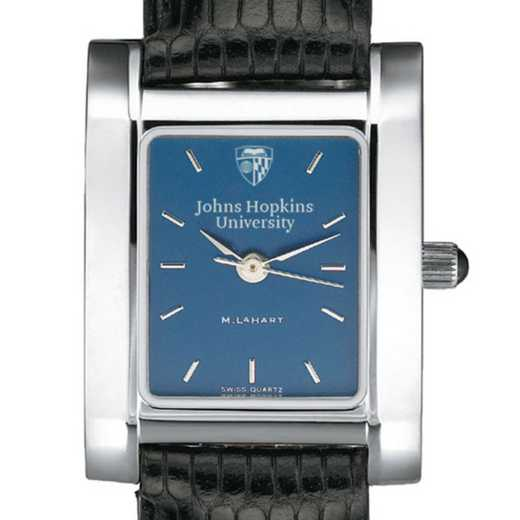 615789101925: Johns Hopkins Women's Blue Quad Watch W/ Leather Strap