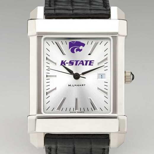615789971627: Kansas State Univ Men's Collegiate Watch W/ Leather Strap