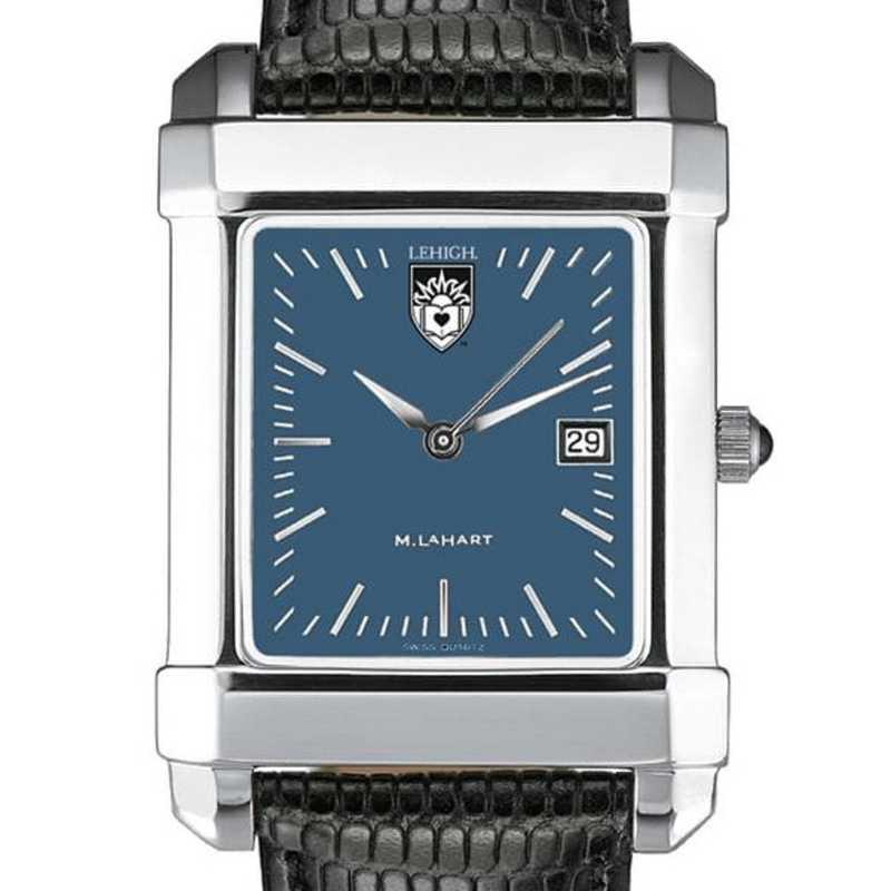 615789411338: Lehigh Men's Blue Quad Watch W/ Leather Strap