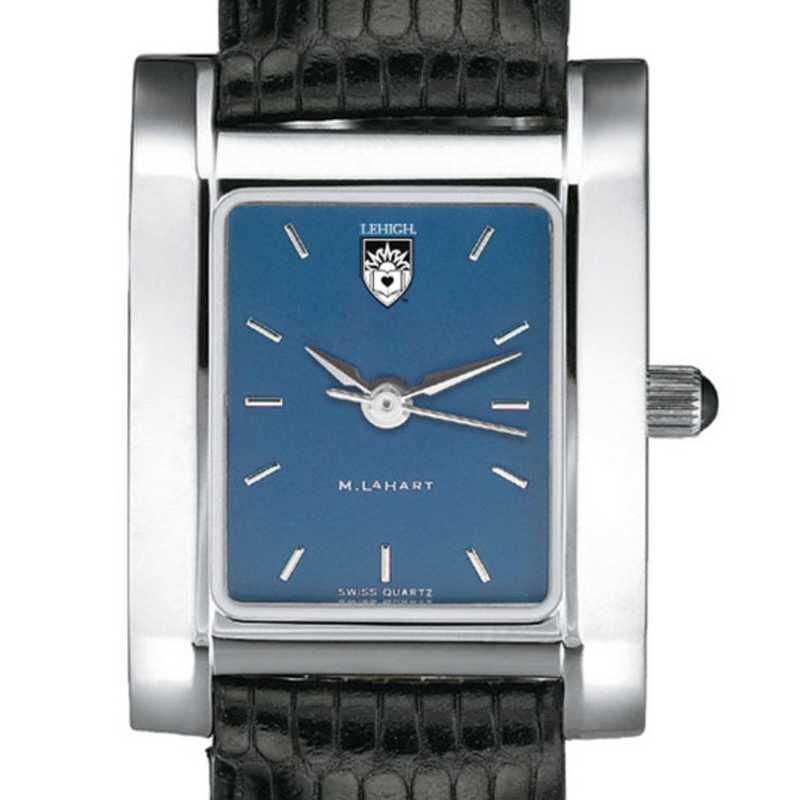 615789411352: Lehigh Women's Blue Quad Watch W/ Leather Strap