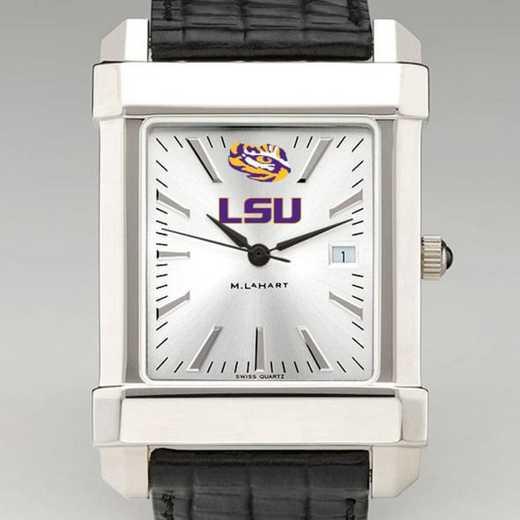 615789666752: LSU Men's Collegiate Watch W/ Leather Strap