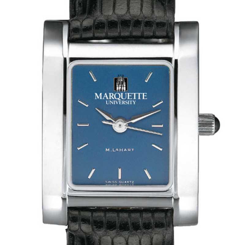 615789544968: Marquette Women's Blue Quad Watch W/ Leather Strap