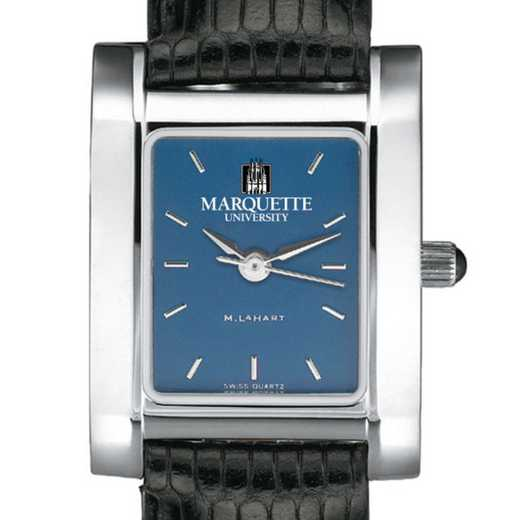 615789544968: Marquette Women's Blue Quad Watch W/ Leather Strap