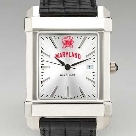 615789208976: Maryland Men's Collegiate Watch W/ Leather Strap