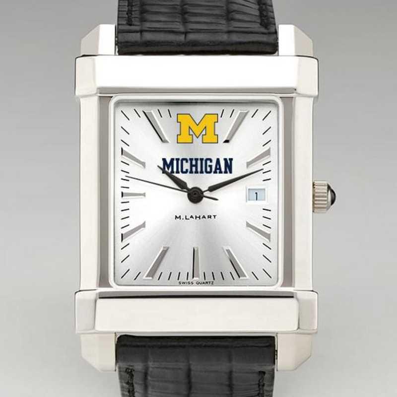 615789230724: Michigan Men's Collegiate Watch W/ Leather Strap
