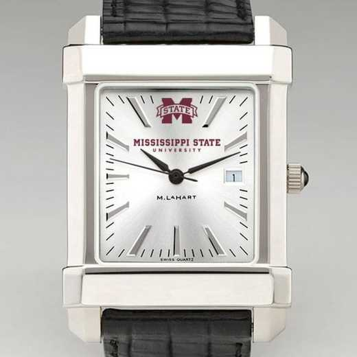 615789059080: Mississippi State Men's Collegiate Watch W/ Leather Strap