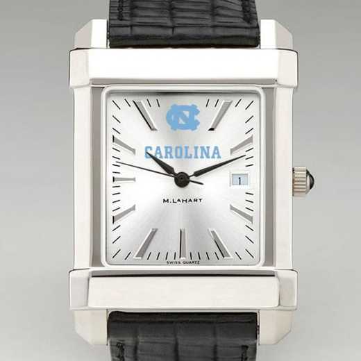 615789541387: North Carolina Men's Collegiate Watch W/ Leather Strap