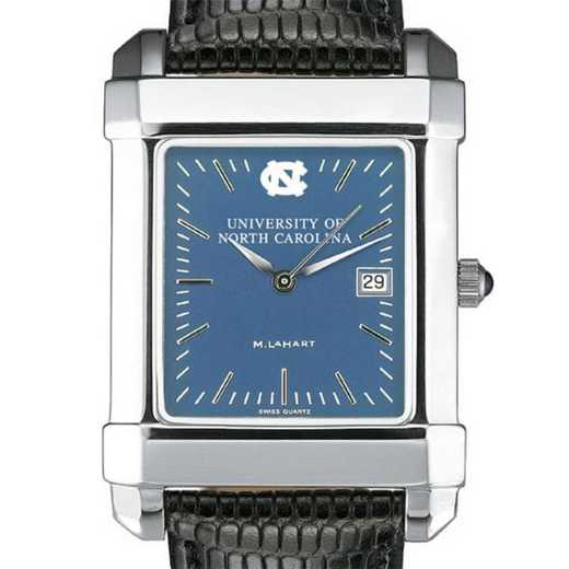 615789809753: UNC Men's Blue Quad Watch W/ Leather Strap