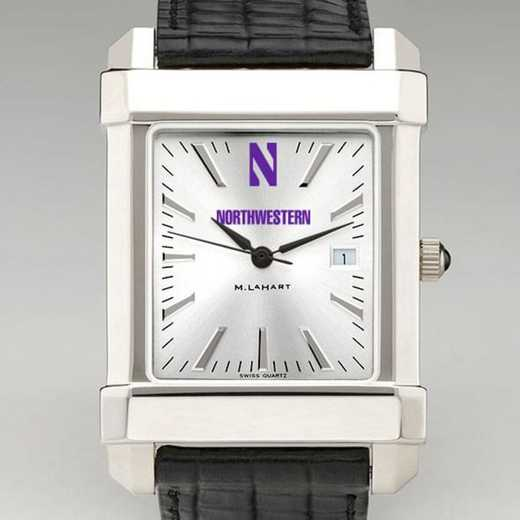 615789044864: Northwestern Men's Collegiate Watch W/ Leather Strap