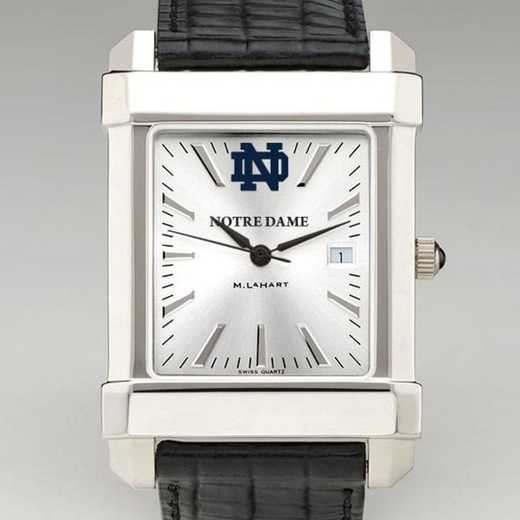 615789581178: Notre Dame Men's Collegiate Watch W/ Leather Strap