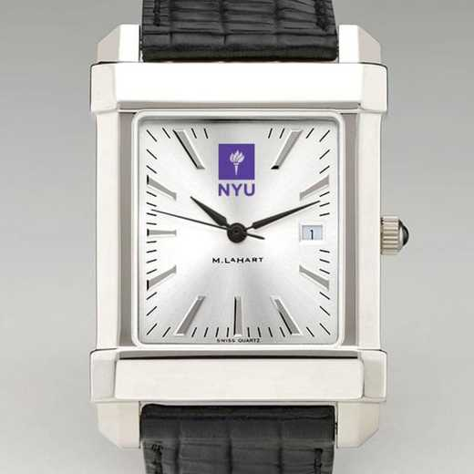 615789446255: NYU Men's Collegiate Watch W/ Leather Strap