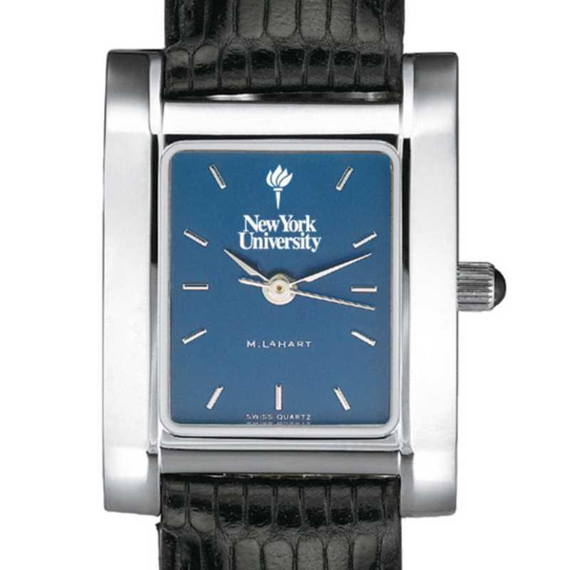 615789693796: NYU Women's Blue Quad Watch W/ Leather Strap