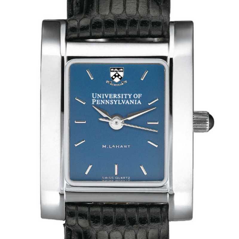 615789410799: Penn Women's Blue Quad Watch W/ Leather Strap