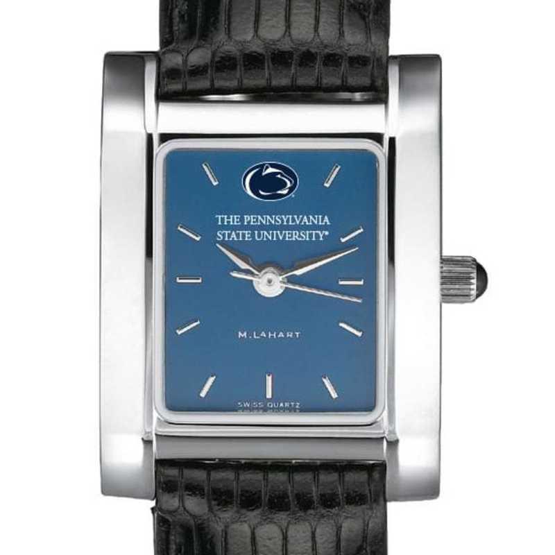 615789847878: Penn State Women's Blue Quad Watch W/ Leather Strap